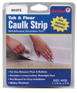 Tub Amp Floor Caulk Strip Wide