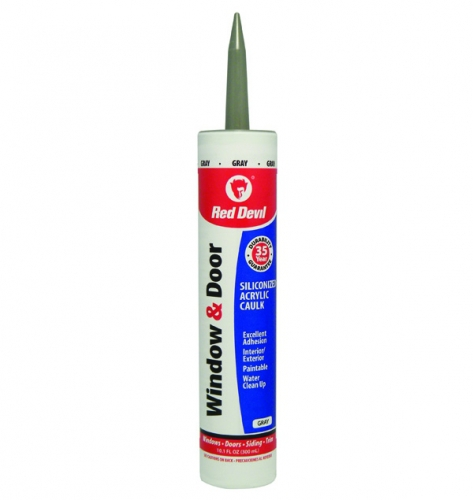 Grey Kitchen And Bath Caulk: Window & Door Siliconized Acrylic Caulk (Gray