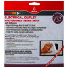 2 Pack of Onetime&reg Electrical Outlet Multi-Surface Repair Patch
